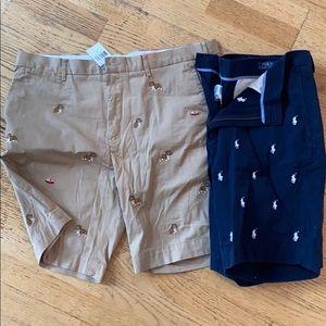 2 pairs polo shorts raulph Lauren men's